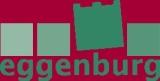 Logo der Stadtgemeinde Eggenburg in Grün mit rotem Hintergrund